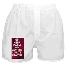 KEEP CALM - LORDS PRAYER Boxer Shorts