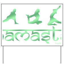 Namaste yoga green Yard Sign