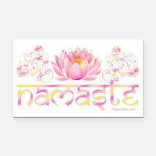 Namaste_lotus_new Rectangle Car Magnet