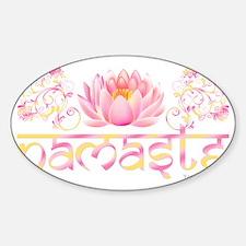 Namaste_lotus_new Sticker (Oval)
