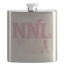 NNL initials, Pink Ribbon, Flask