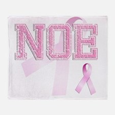 NOE initials, Pink Ribbon, Throw Blanket