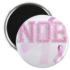 NOE initials, Pink Ribbon, Magnet