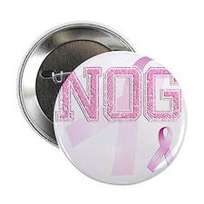 """NOG initials, Pink Ribbon, 2.25"""" Button"""