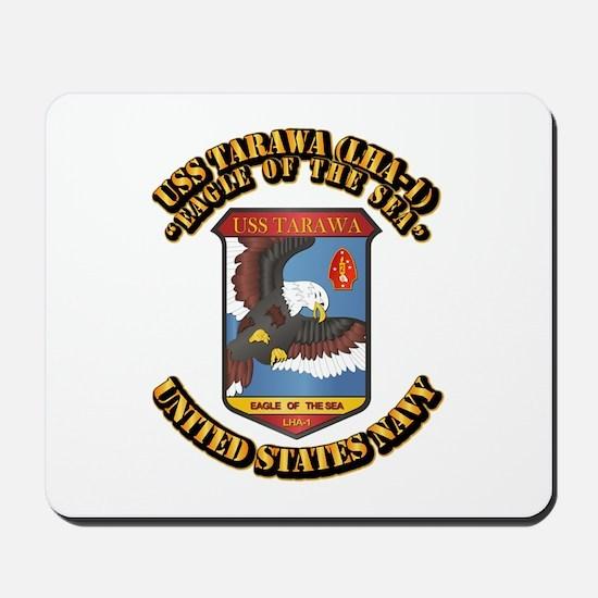USS Tarawa (LHA-1) with Text Mousepad