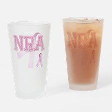 NRA initials, Pink Ribbon, Drinking Glass