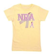 NRA initials, Pink Ribbon, Girl's Tee