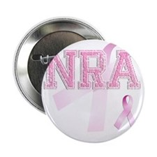 "NRA initials, Pink Ribbon, 2.25"" Button"
