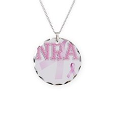 NRA initials, Pink Ribbon, Necklace