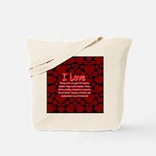 I Love Mature Girls Tote Bag