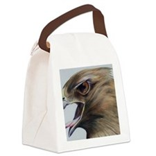 Red Hawk Canvas Lunch Bag