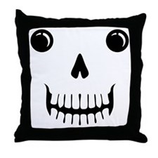 Scull Face Tee Throw Pillow
