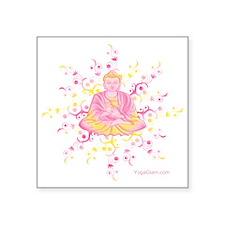 "meditation Square Sticker 3"" x 3"""