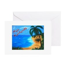 Mele Kalikimaka Greeting Cards