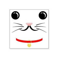 "cat face Square Sticker 3"" x 3"""