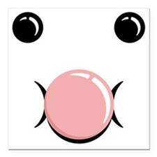 "FaceBubble Square Car Magnet 3"" x 3"""