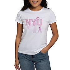 NYU initials, Pink Ribbon, Tee