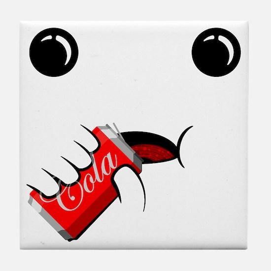 cola face Tile Coaster