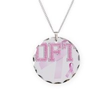 OFT initials, Pink Ribbon, Necklace