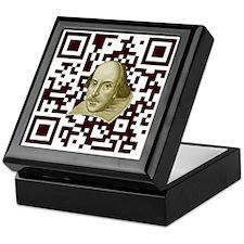 Shakespeare -  QR Code Keepsake Box