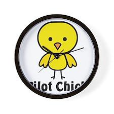 Pilot Chick Wall Clock