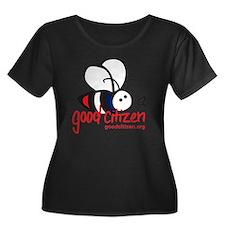 Bee Tee  Women's Plus Size Dark Scoop Neck T-Shirt