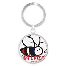 Bee Tee - Light Colored Round Keychain