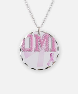 OMI initials, Pink Ribbon, Necklace