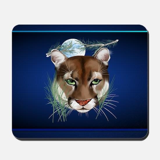 Wall Peels Midnight Mountain Lion Mousepad
