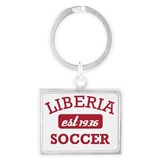 Liberian Soccer Designs Landscape Keychain