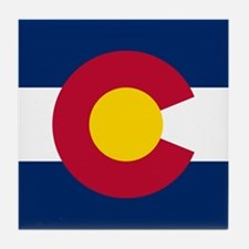 Colorado CO State Flag Tile Coaster