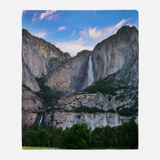Yosemite Falls Throw Blanket