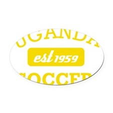 Ugandan Soccer Designs Oval Car Magnet