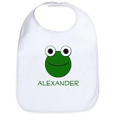 Alexander Frog Face Bib