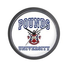 POUNDS University Wall Clock