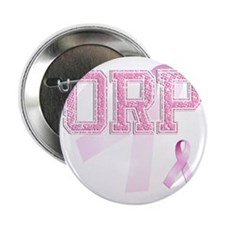 """ORP initials, Pink Ribbon, 2.25"""" Button"""