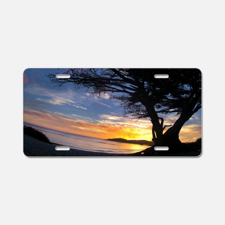Streaming Sky Aluminum License Plate