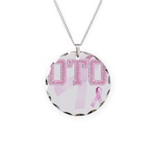 OTO initials, Pink Ribbon, Necklace