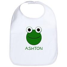 Ashton Frog Face Bib