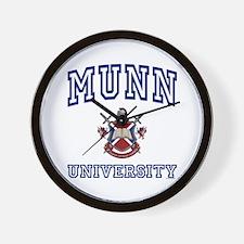 MUNN University Wall Clock