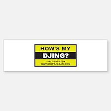 How's My DJing Bumper Bumper Bumper Sticker