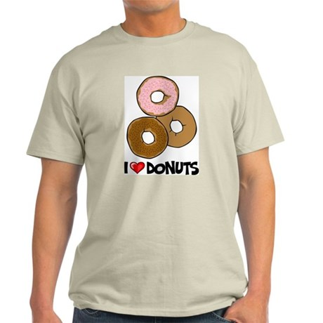 I Love Donuts Light T-Shirt