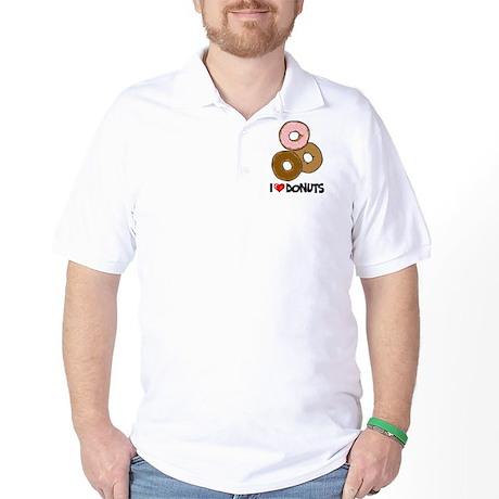 I Love Donuts Golf Shirt