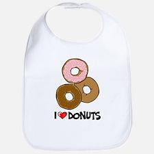 I Love Donuts Bib