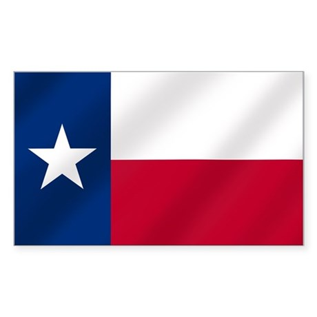Texas State Flag Sticker (Rectangle)