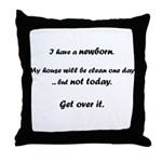 No cleaning, newborn baby Throw Pillow