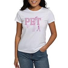 PET initials, Pink Ribbon, Tee
