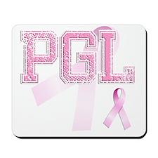 PGL initials, Pink Ribbon, Mousepad