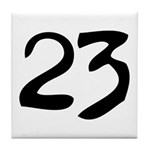 The Number 23 Tile Coaster