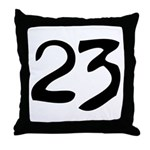 The Number 23 Throw Pillow